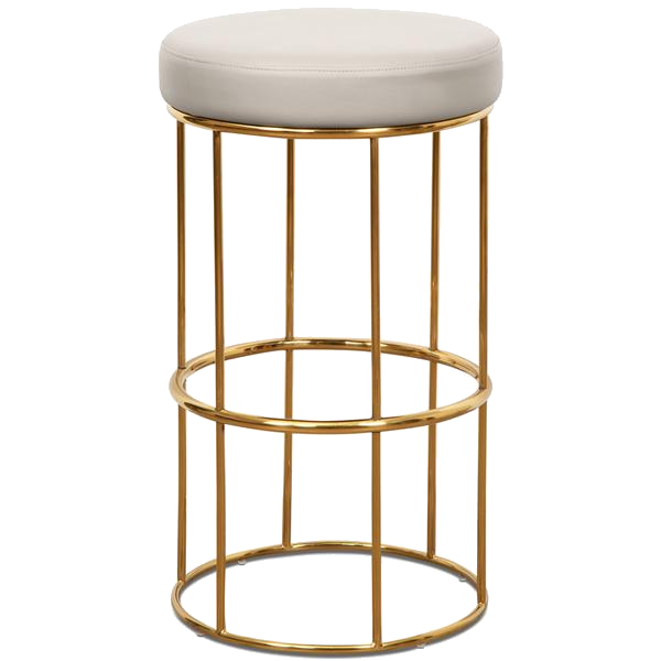 brass + faux leather bar stool