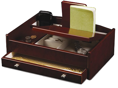 Men's fine wood Valet with one drawer for organizing his special items. Other styles available.