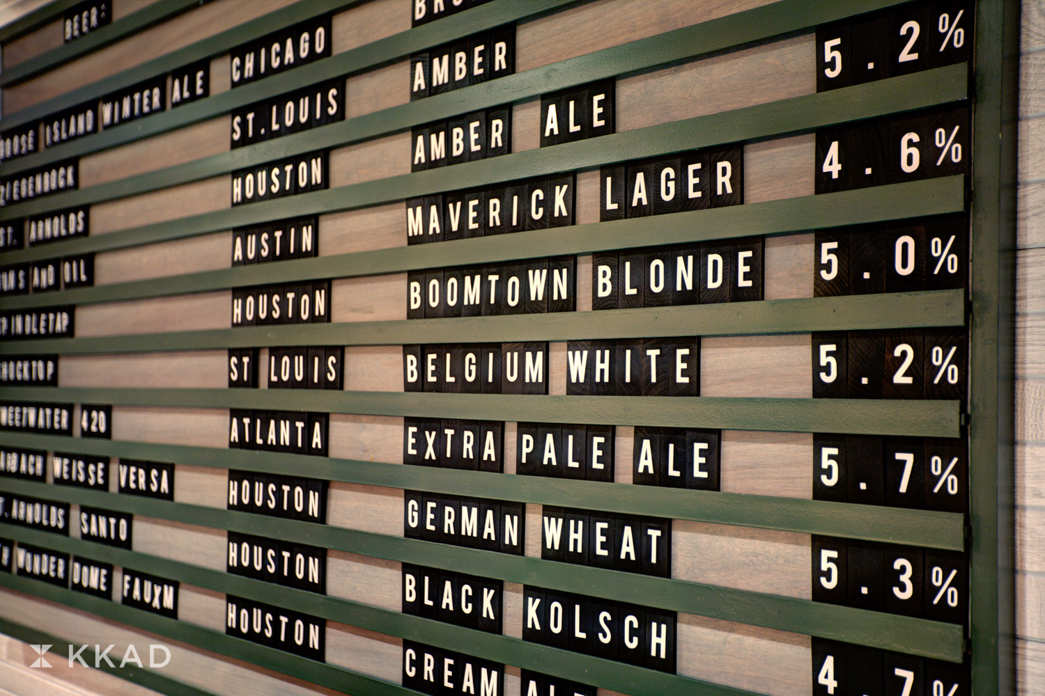 Four Points Greenway Beer Board
