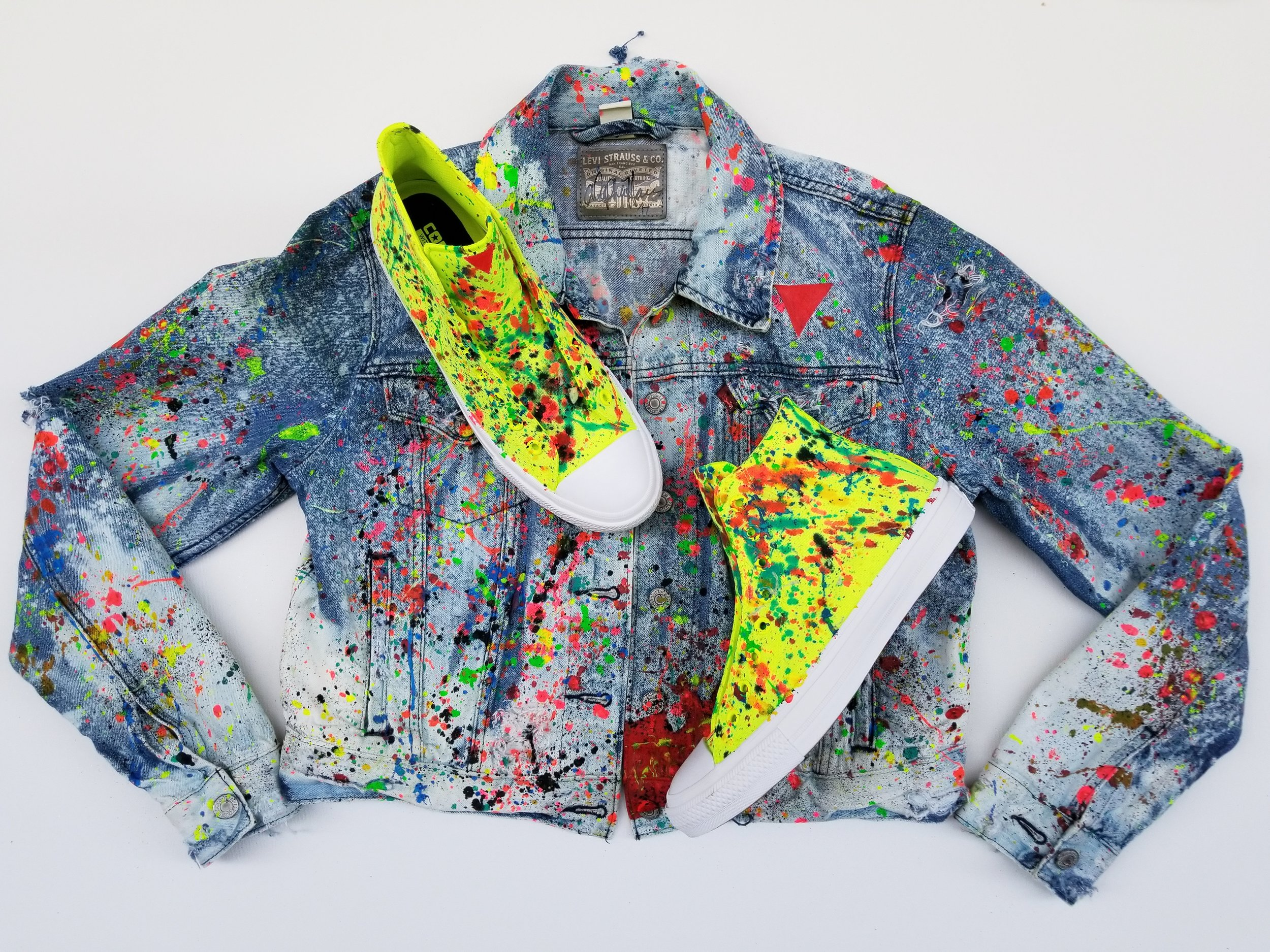 """The Matter Jacket"" & ""Matter Splatter Chucks"""