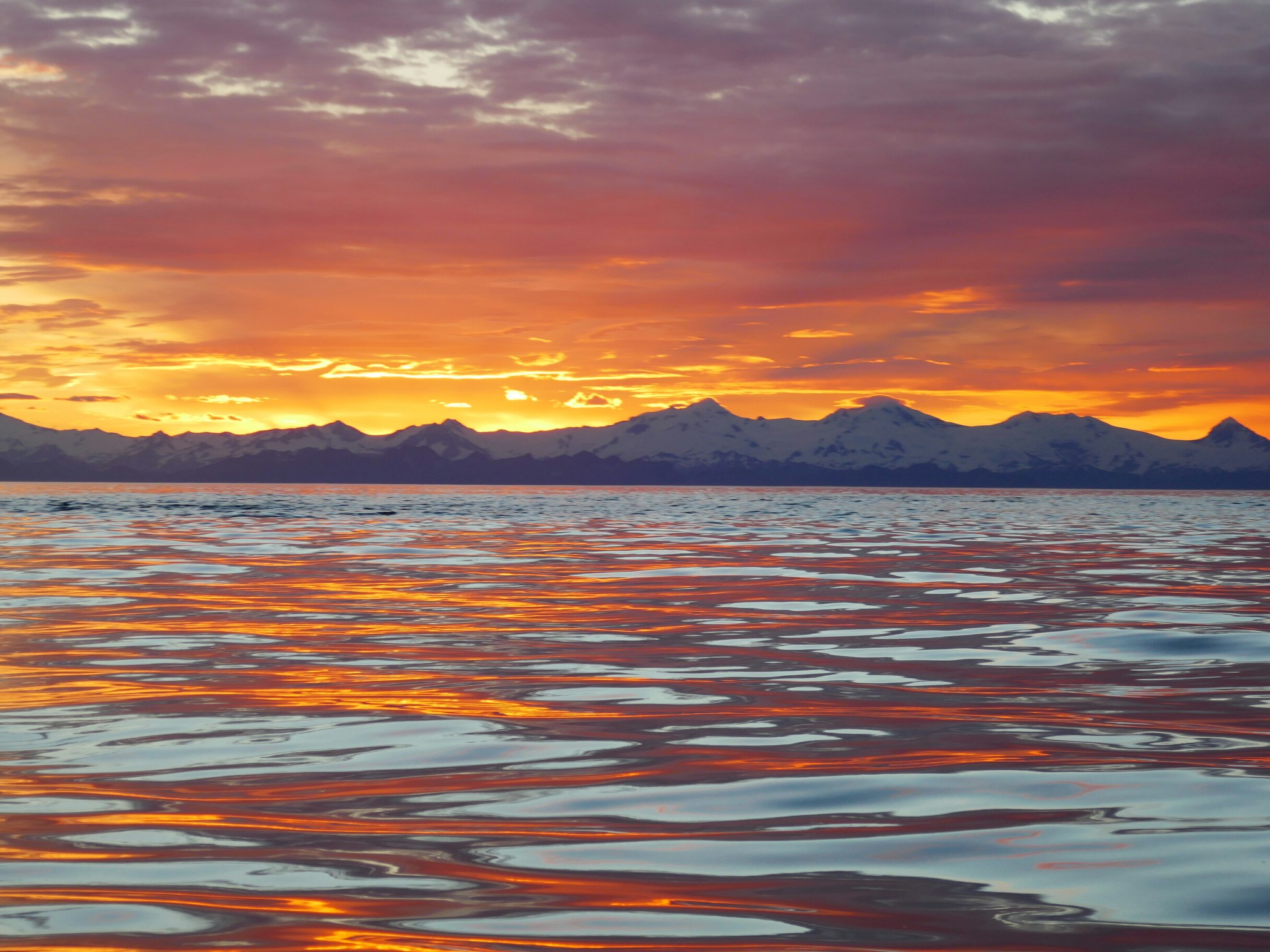 Summer Solstice sunset, Uganik Bay. 11:15 pm