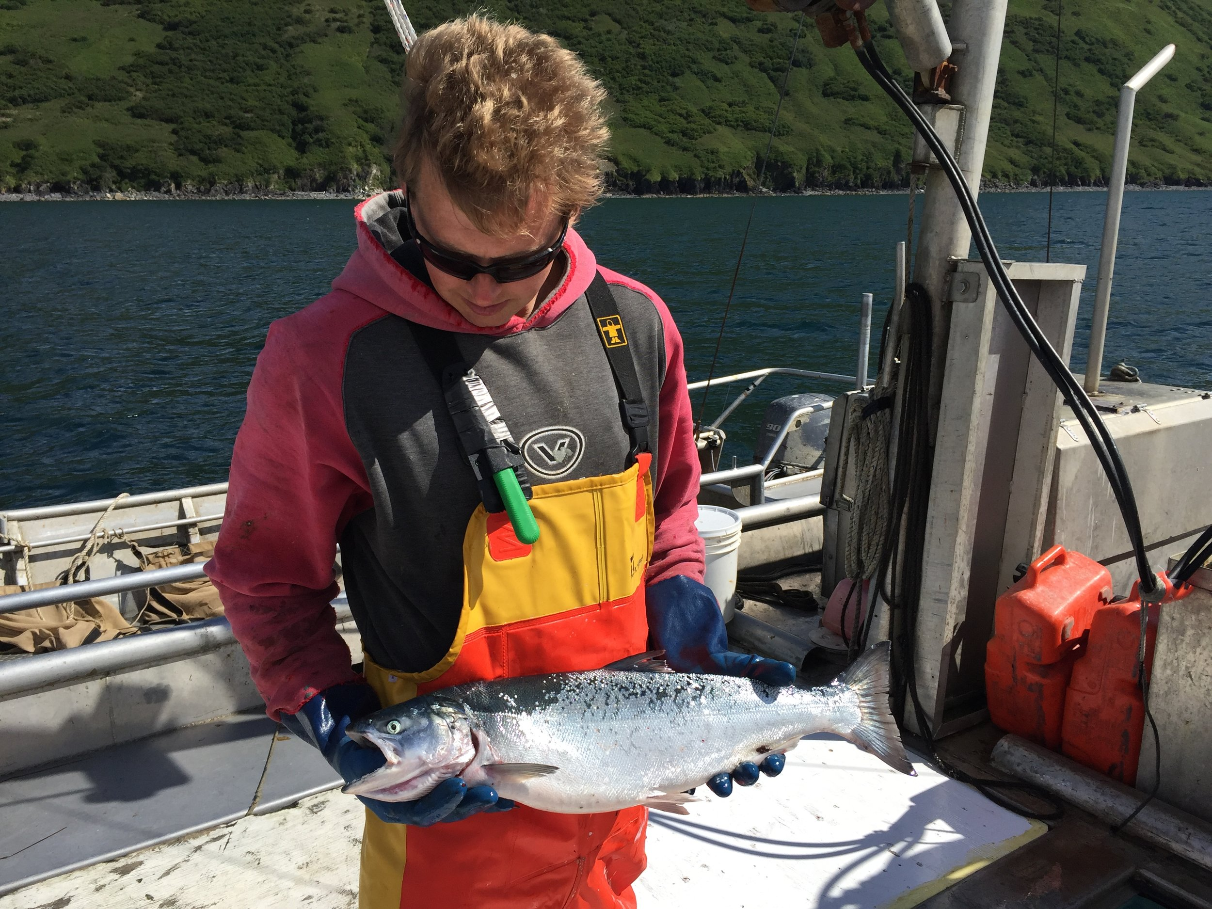 Tollef with a coho
