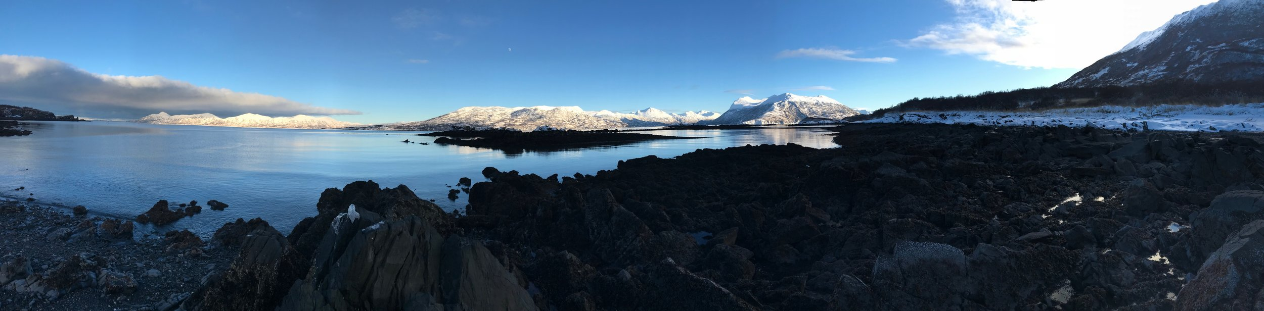 Mountains of Kodiak Island rise up seemingly straight from the ocean.