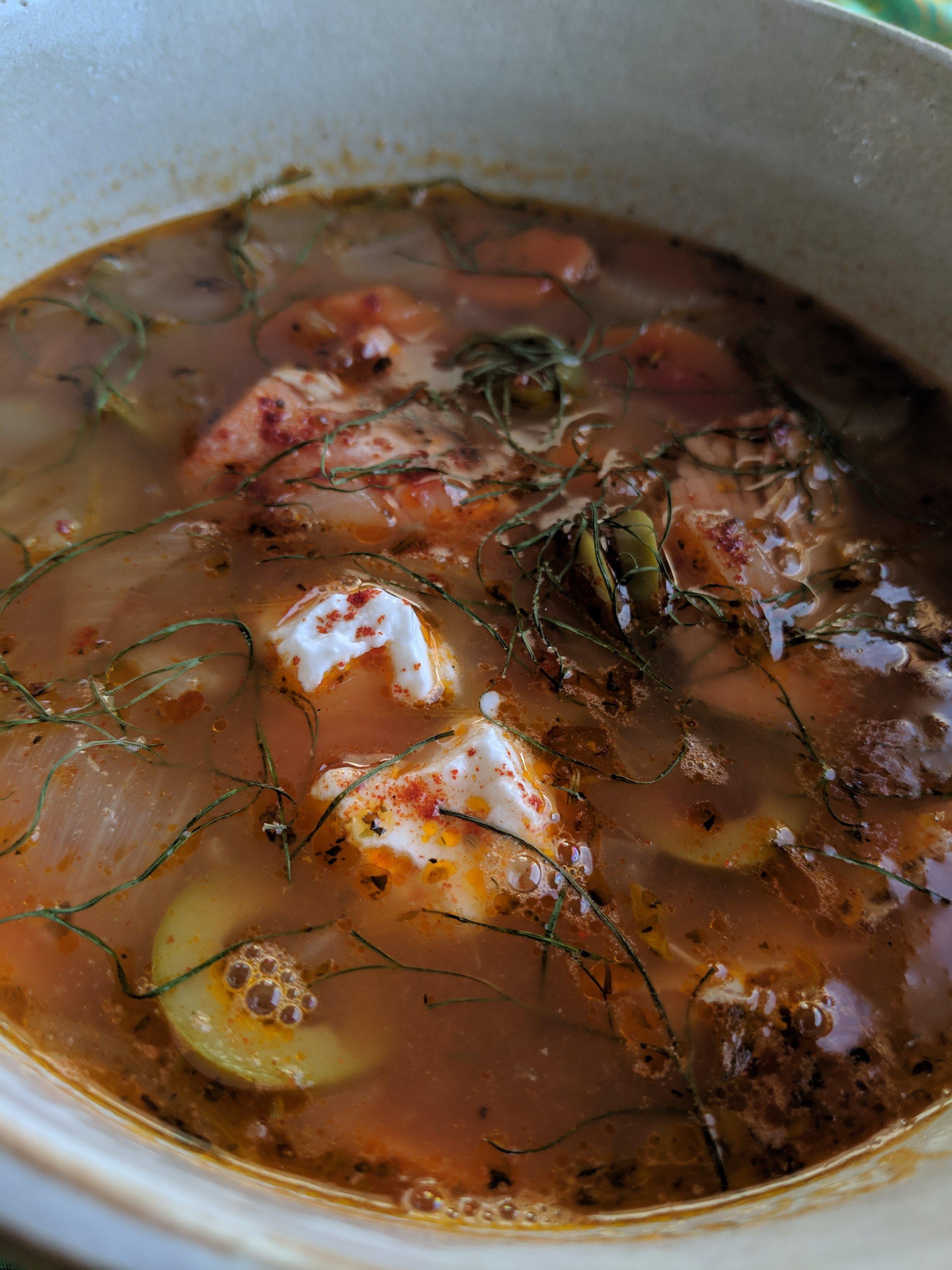 Valentine Salmon Soup