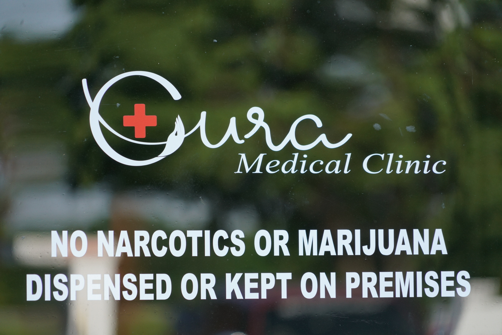 NO NARCOTICS DISPENSED OR KEPT ON PREMISES - CURA for the world's clinics are an opioid free facilities.