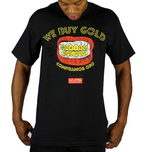 3. We Buy Gold Tee - Brand: Faze ApparelPrice: $30.00