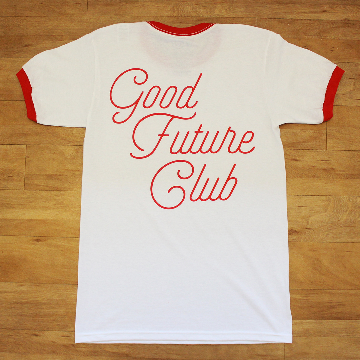 10. Stacked Script Logo Tee - Brand: Good Future ClubPrice: $19.99