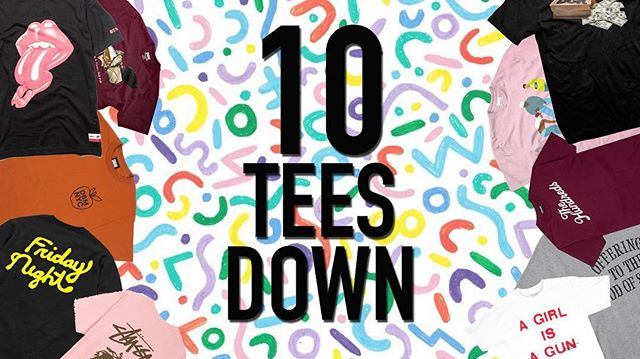 New heat🔥Every week 🗓 We're back with a new installment of 10 Tees Down. Hit the link in our profile and peep the dope tees we've featured this week. // #clothingbrand #lifestyle #streetwear #apparel #accessories #design #tshirt #tshirtdesign