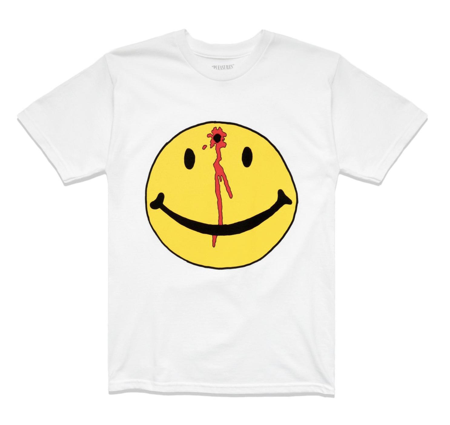 4. Chinatown Market Smiley Tee - Brand: PleasuresPrice: $36.00