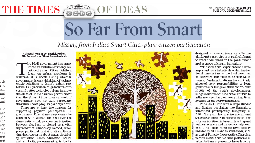 So far from smart: Missing from India's Smart Cities plan — citizen participation