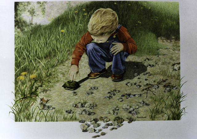 A Little Boy's World by Patrice Herbst - 17 x 13.5