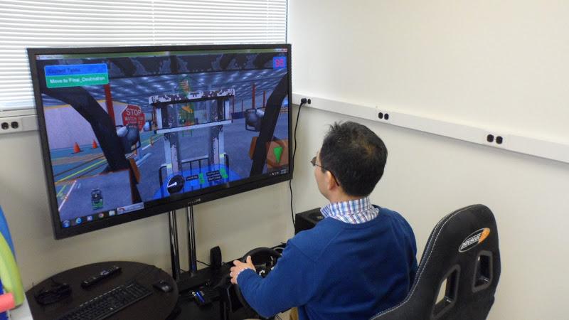 Streamline Simulations 3D Forklift desktop version demonstration.