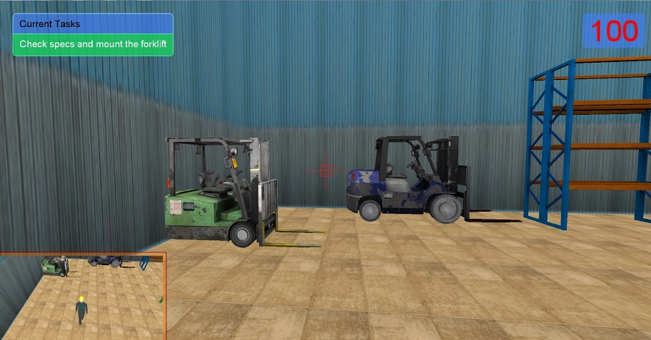 Simulated Forklifts and Warehouse 2