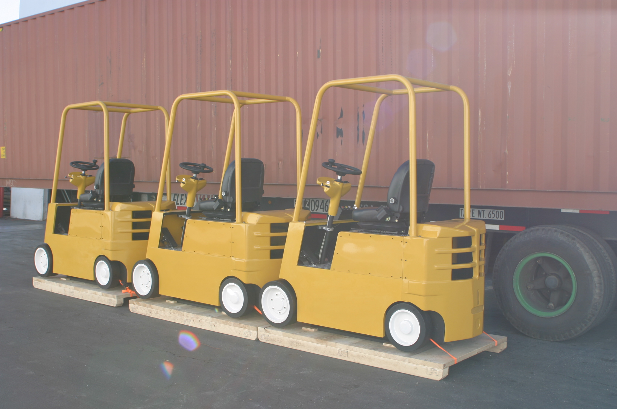 Cab Simulators Awaiting Shipment