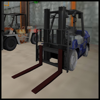 Streamline Simulations trainer forklifts.
