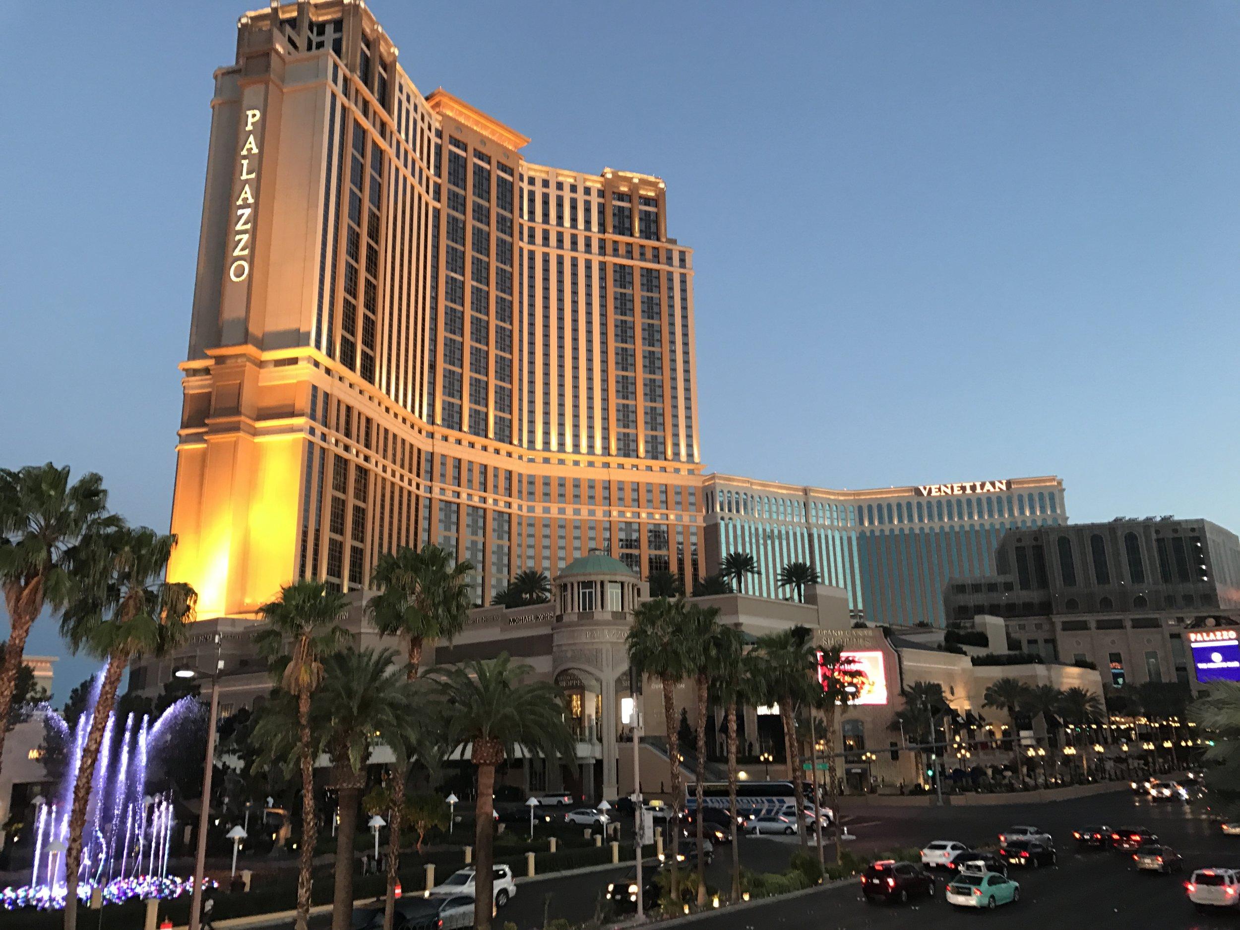 Das «Palazzo» am «Las Vegas Strip» hat Neues erreicht. Mit 45 Dollar pro Übernachtung sind hier die Resort Fees am höchsten (ebenso hoch sind die Kosten im Schwesterhotel «The Venetian»)