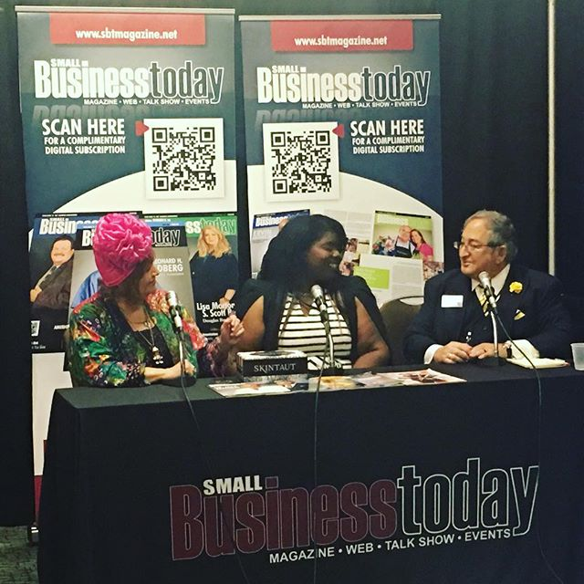 Small Business Today Magazine Talk Show on the SBT Magazine Radio Network. Co-Hosts: Steve Levine & Barbara Davis-Levine  With Guest: Kathy Brooks of Skintaut Live at Trade Expo  Africa (TEXA). Thanks to SBT for the opportunity to share my passion for skincare. Stay tuned for video upload - more to come #skintaut #sbtv @smallbusinesstodaymagazine smallbusinesstodaymagazine