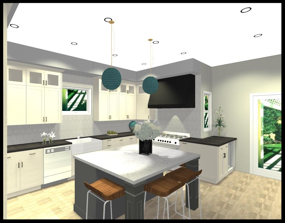kitchen design rendering by savvy kitchens