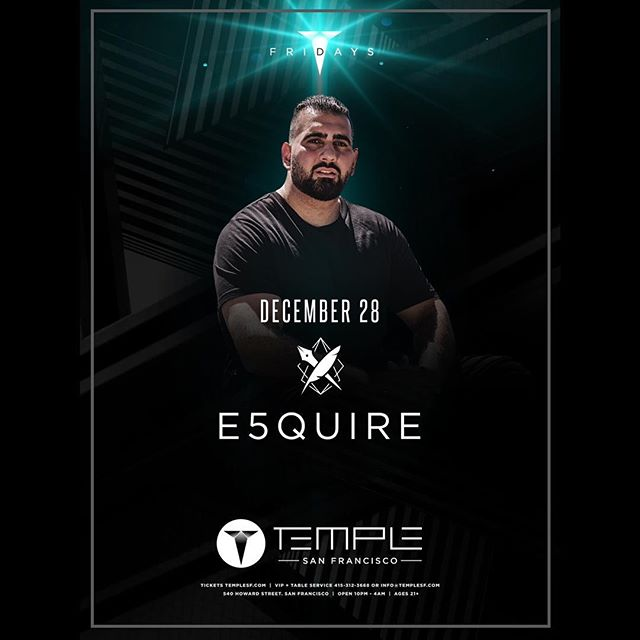 They say if you do what you love, you will never work a day in your life. I am living proof!  Scroll ⬅️⬅️⬅️ for more 🔥 Tag a friend you would take to one of these shows! 👊🏽 12/28 - @Temple_sf  12/31 - @ArgyleHollywood