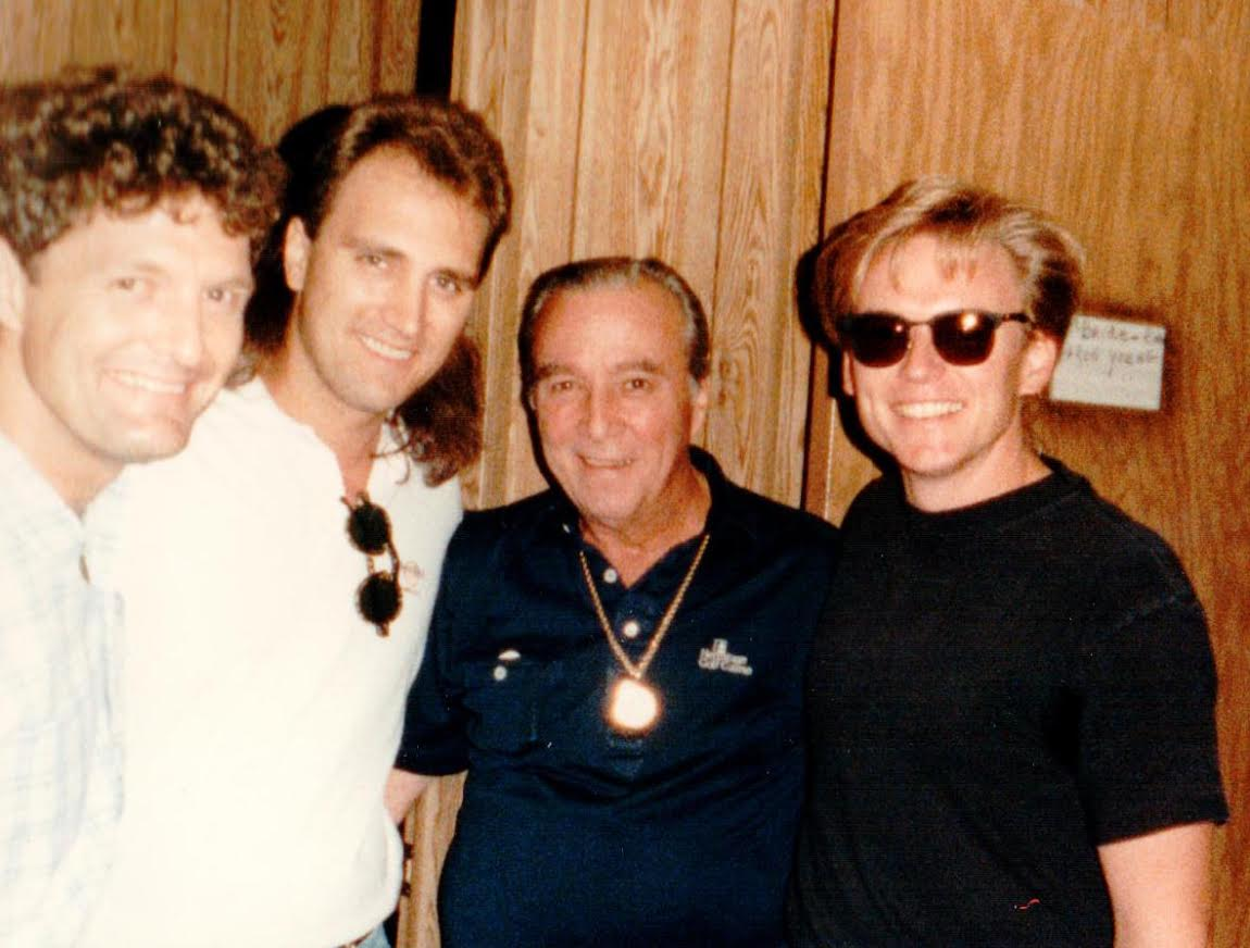 (L-R) Billy Thomas and Ray Herndon of McBride & the Ride, Faron Young and Terry.