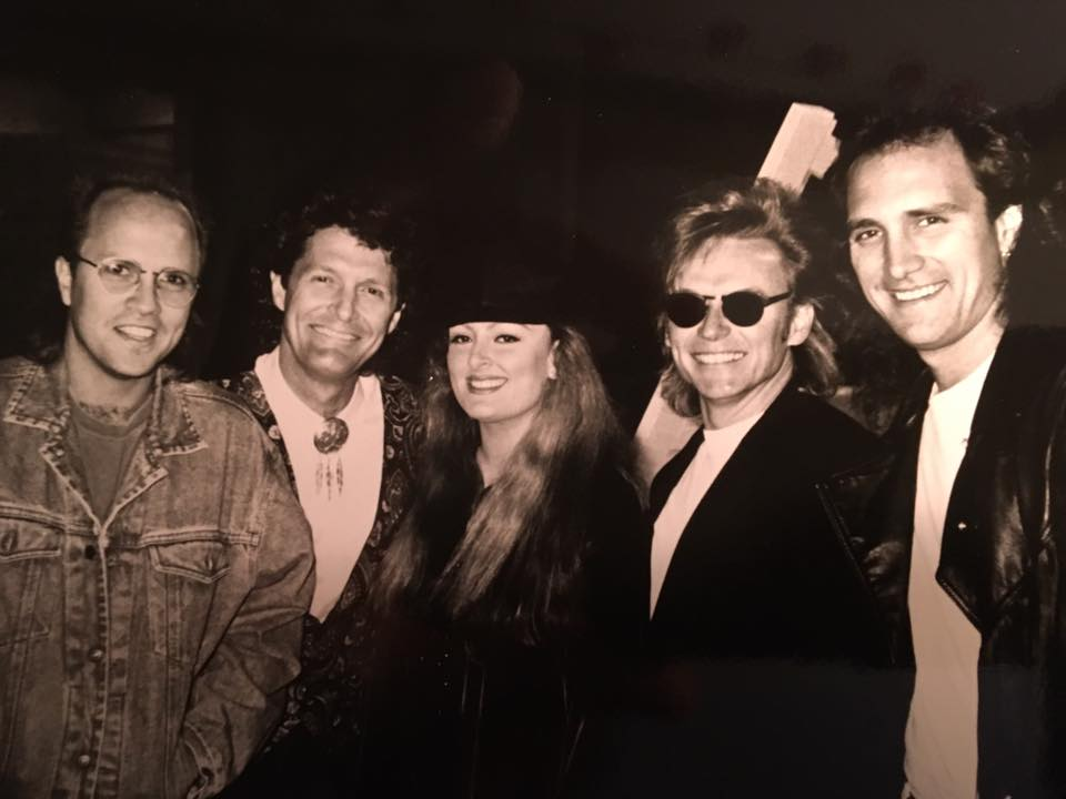(L-R) Mark Miller from Sawyer Brown, Billy Thomas from McBride & The Ride, Wynonna, Terry,  Ray Herndon from McBride & The Ride