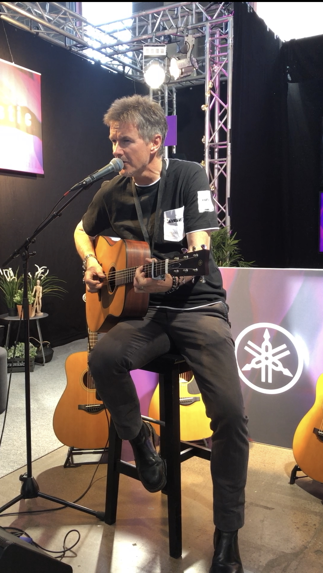 Playing at the Yamaha stand……