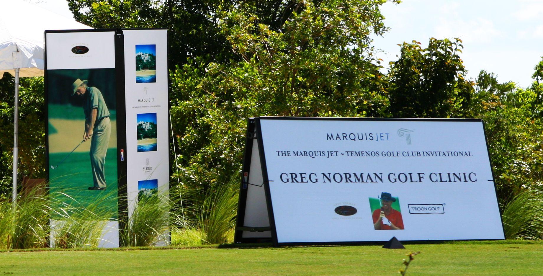 Greg Norman Golf Clinic - SSS Towers & Walls