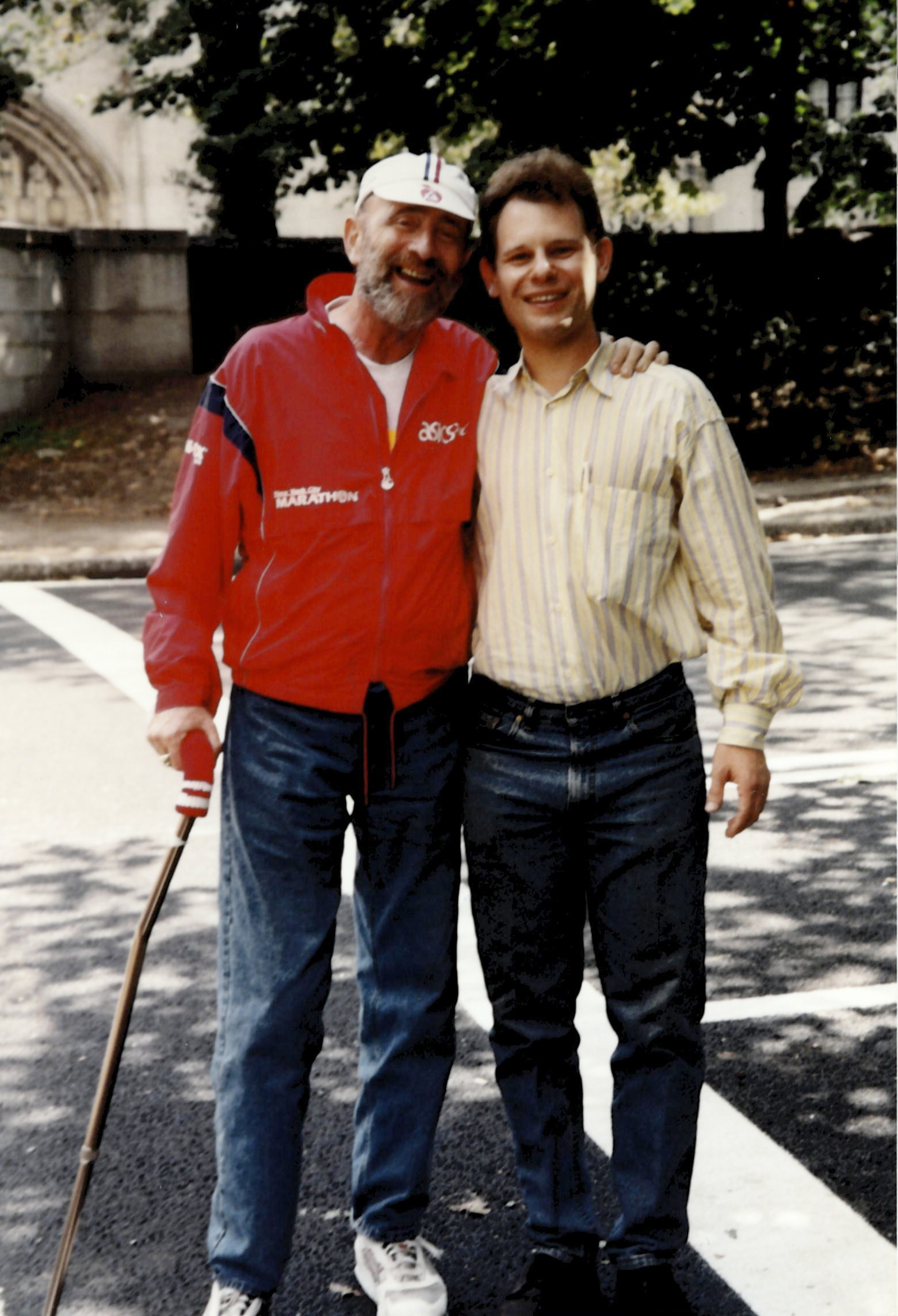 Fred Lebow, founder of New York City Marathon and APCG's founder, Jonathan Cooper.