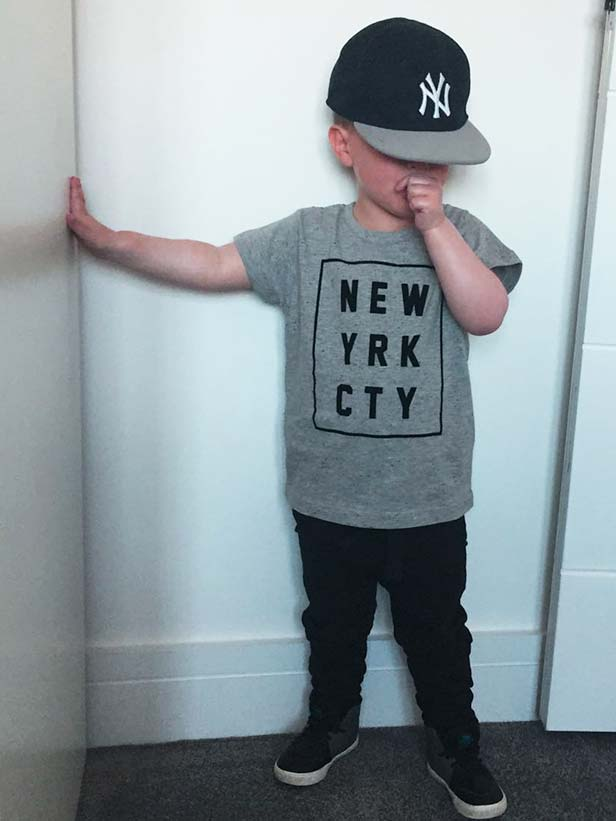 Isaac    The coolest kid on the block rocking  Little Eleven Paris.