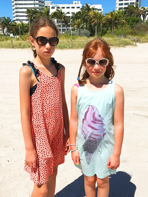 Eva and Ines    Striking a pose in  Sons and Daughters  sunglasses and  Soft Gallery