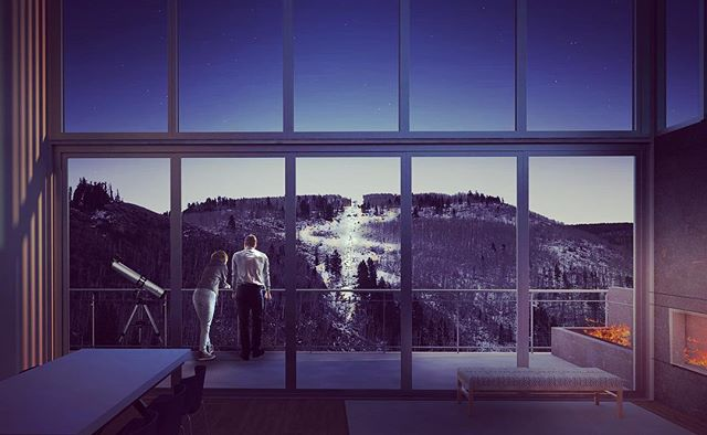 Happy New Year from 359! Exciting things on the horizon for 2018 . . . . #newyear #2018 #architecture #denver #colorado #mountain #mountainliving #design #rendering #fireplace #penthouse