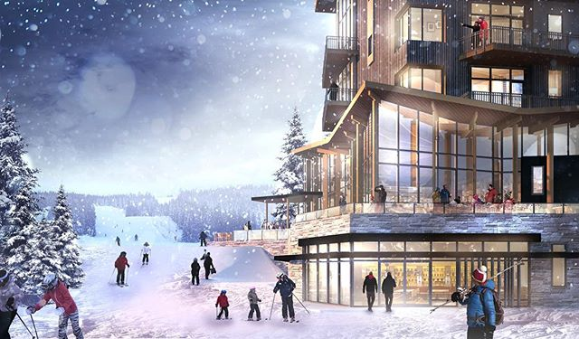 A new process sketch for our Norwegian resort project with @mountainworks.official. . . . . #architecture #design #architecturerender #architecturedesign #rendering #mountains #mountainlife #norway #resort #hotel #skiing #winter #designprocess