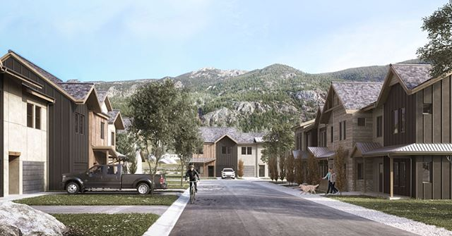 Great new images from @vdpdesign_bcn for our Big Horn Crossing development in Georgetown, CO. For more info or to snag one of these new homes go to www.bighorncrossing.com. . . . #colorado #architecture #design #masterplan #rendering #mountains #mountainliving #newhome