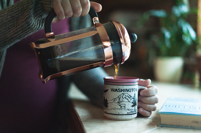 How cute is the  copper french press ???