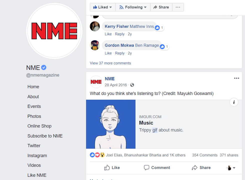 This damn gif got shared by NME magazine, EDM.com etc.