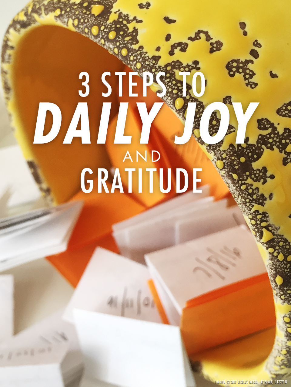 3 Steps to Daily Joy & Gratitude // It's Me, Lizzy B - Musings on Life, Business, & The Pursuit of Curiosity // Personal blog of Lizelly Meza