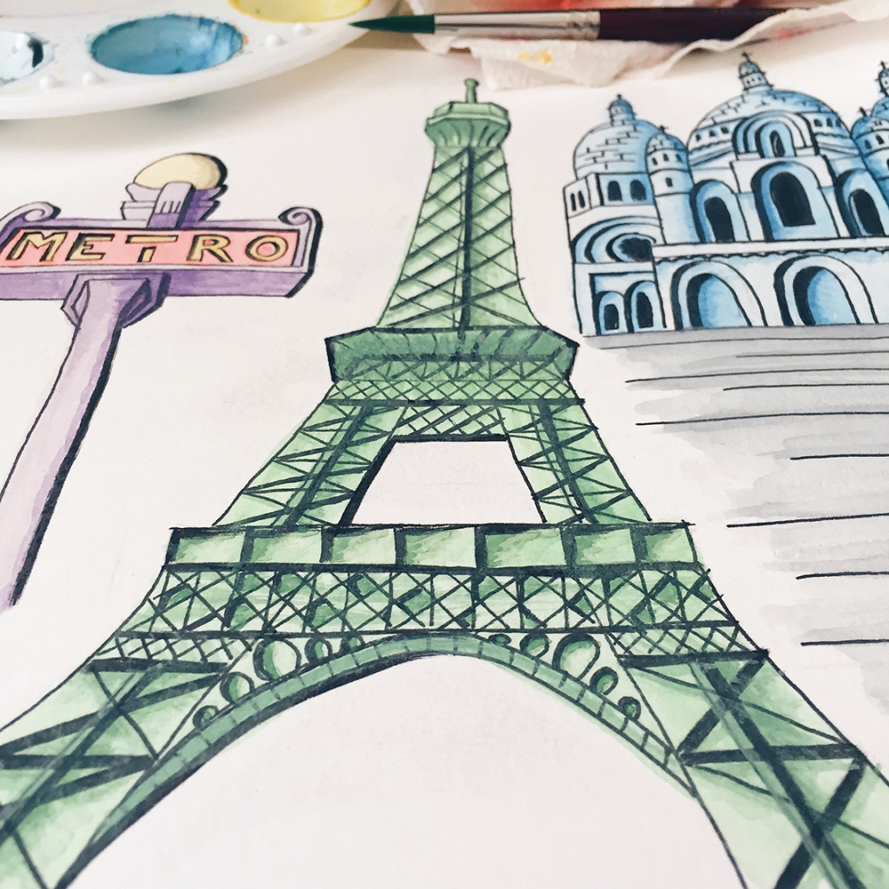 Parisian Scenes—Watercolor Explorations // Curiosities Allowed // Creative blog of Lizelly Meza