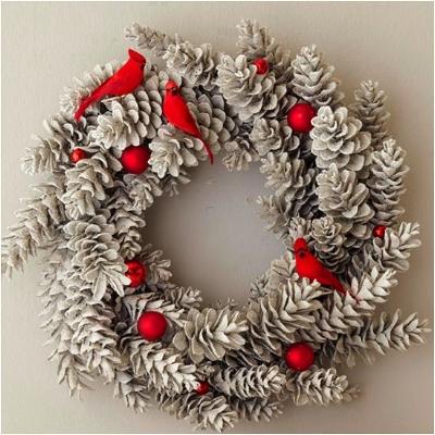 Christmas Wreath Pine cones and birds.jpg