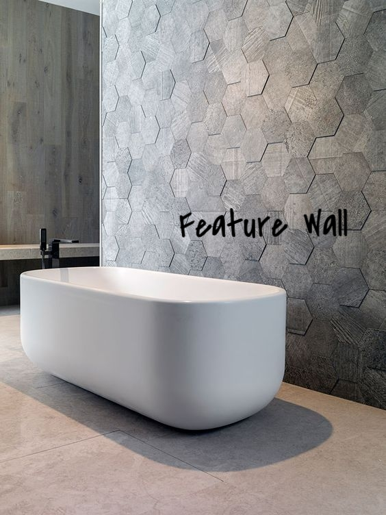 This classic and charming shape deserves it's place in the spotlight! You can spice up any wall by adding textured or patterned hexagon tiles!