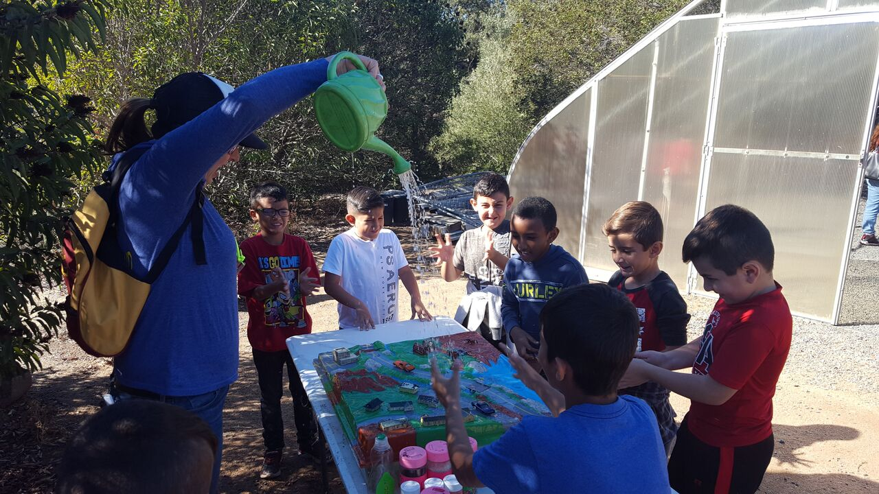 Anza Elementary students learn about the watershed.