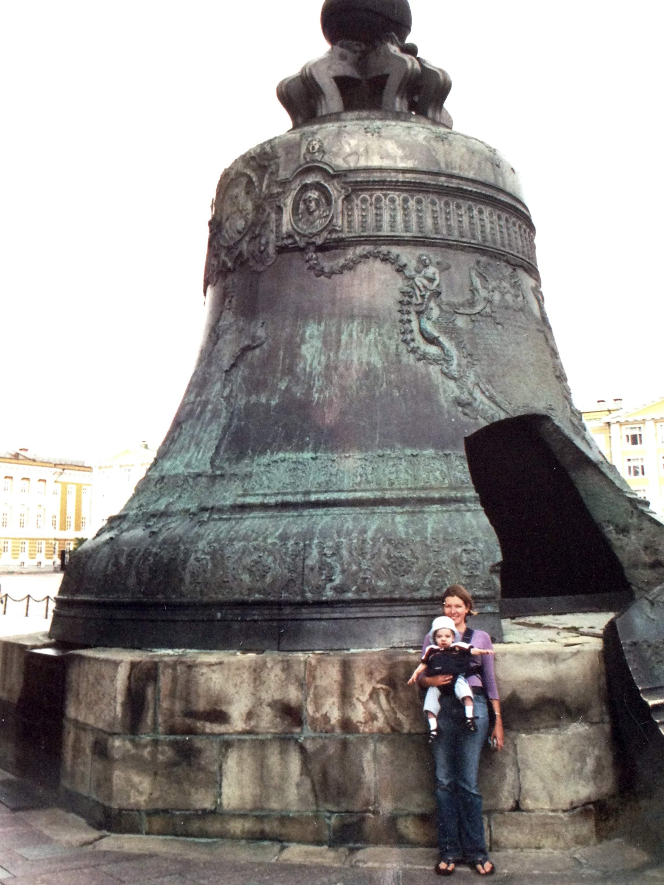 In the Kremlin--little K in front of the world's biggest bell.