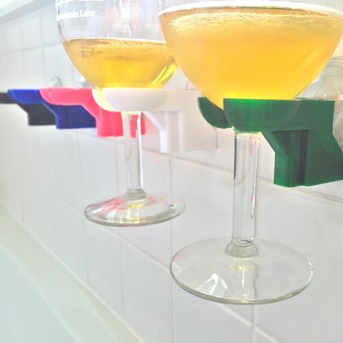 Bath & Shower Wine Glass Holder