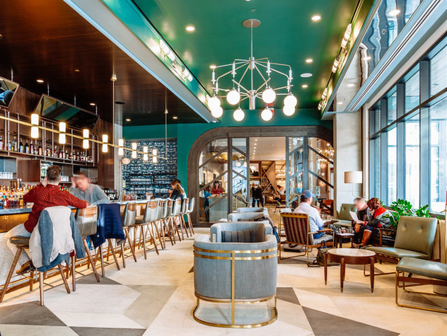 The Marsh House restaurant, designed by Parts & Labor Design