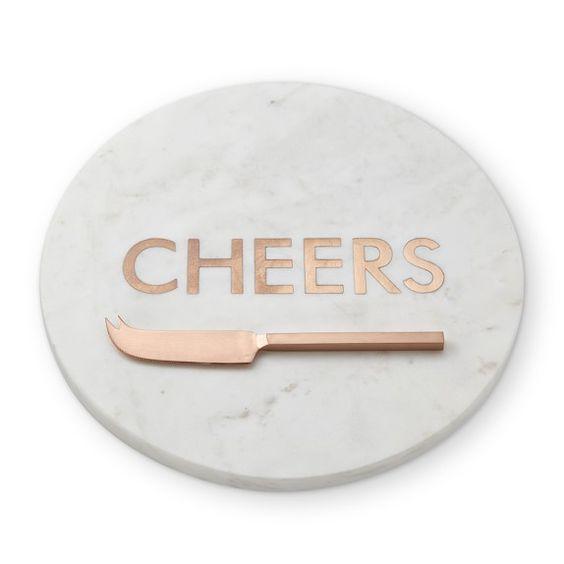 CHEERS Marble & Copper Board, $49.95 @ Williams Sonoma
