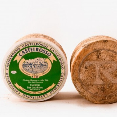 Castelrosso cheese, cow's milk from Piedmont