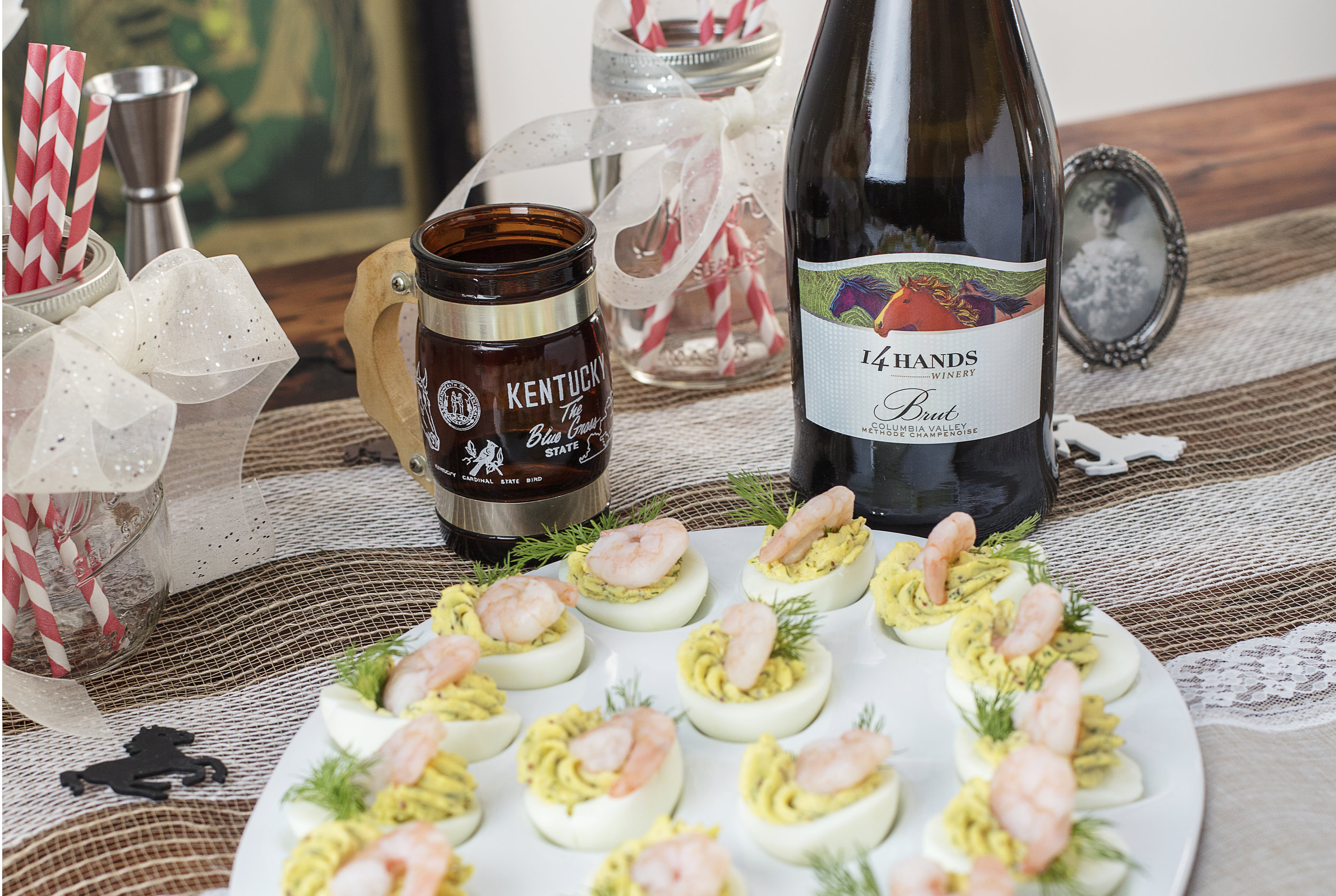 14 Hands Brut is a perfect wine pairing for Kentucky Derby Party recipes.