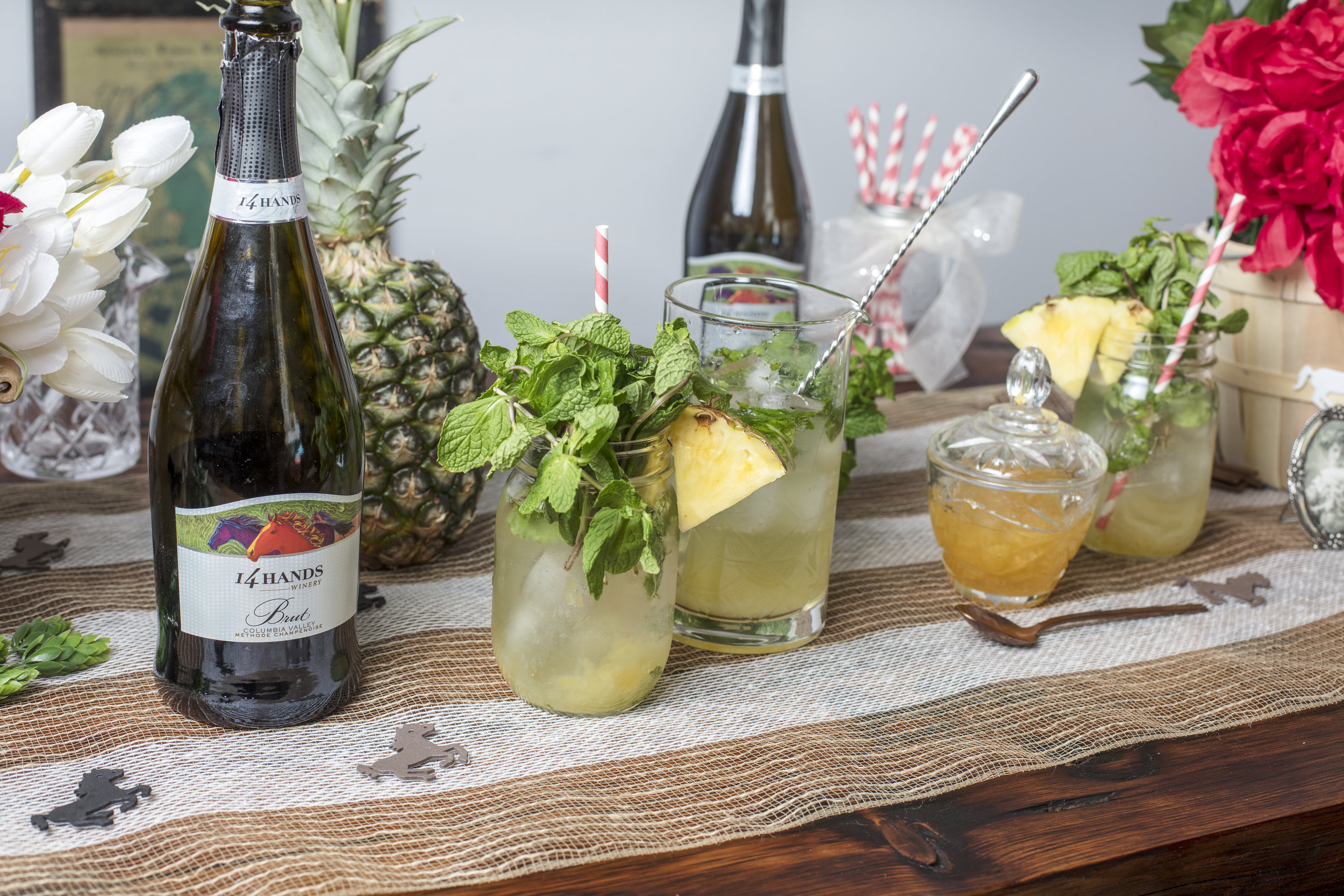 The Lush Life Sparkling Pineapple Juleps are a fun Kentucky Derby Party idea.