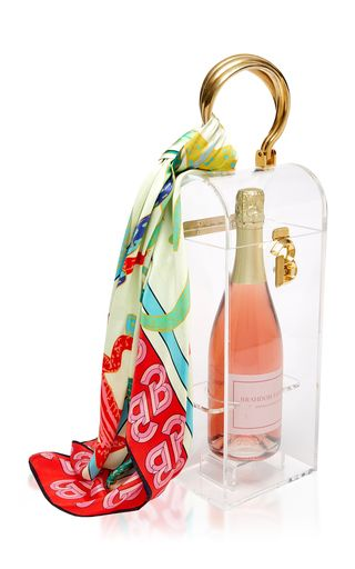 Brandon Maxwell Acrylic And Brass Champagne Box, $1795 @ Moda Operandi