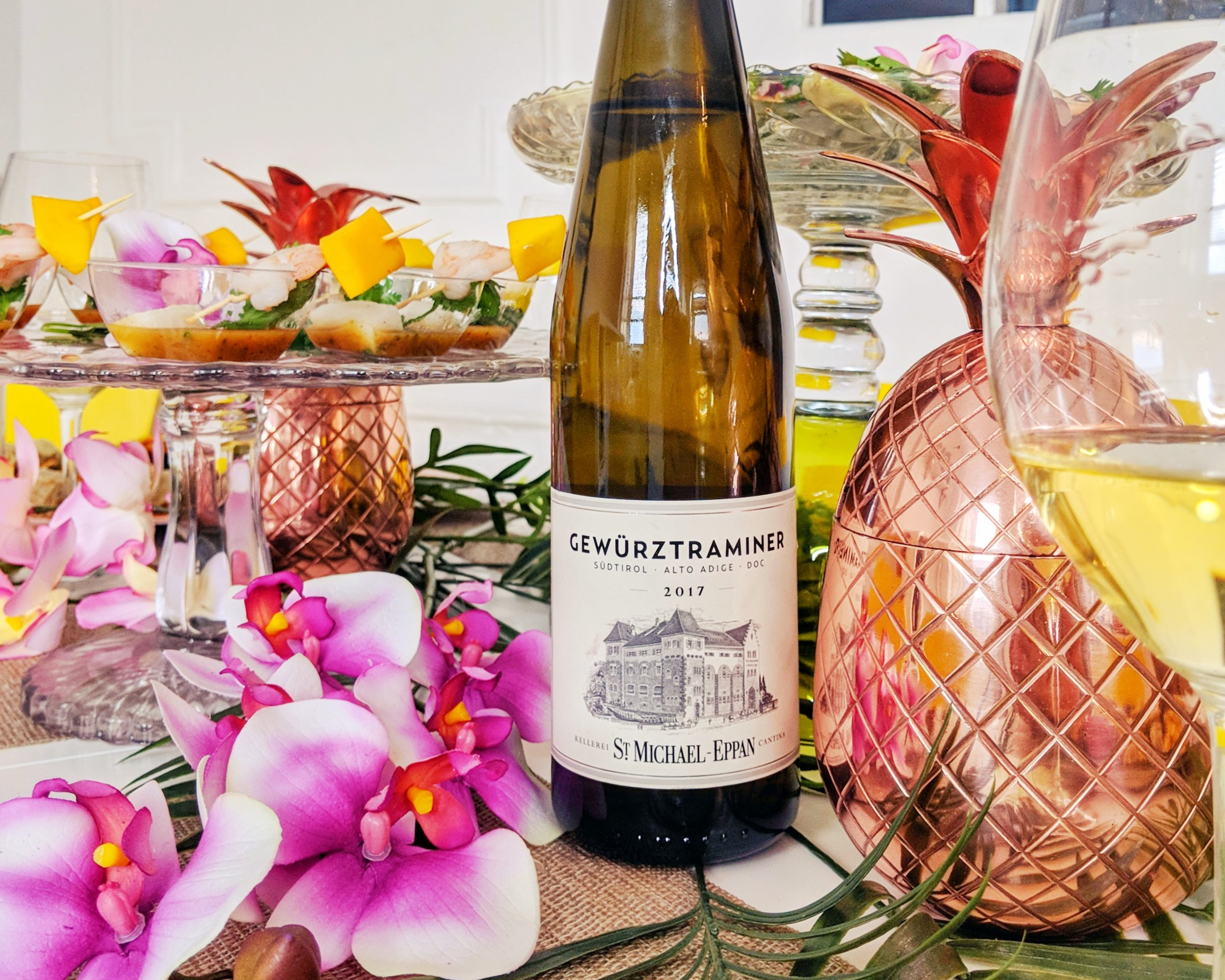 Gewurztraminer from Italy's Sudtirol-Alto-Adige region is a perfect wine pairing for Thai food