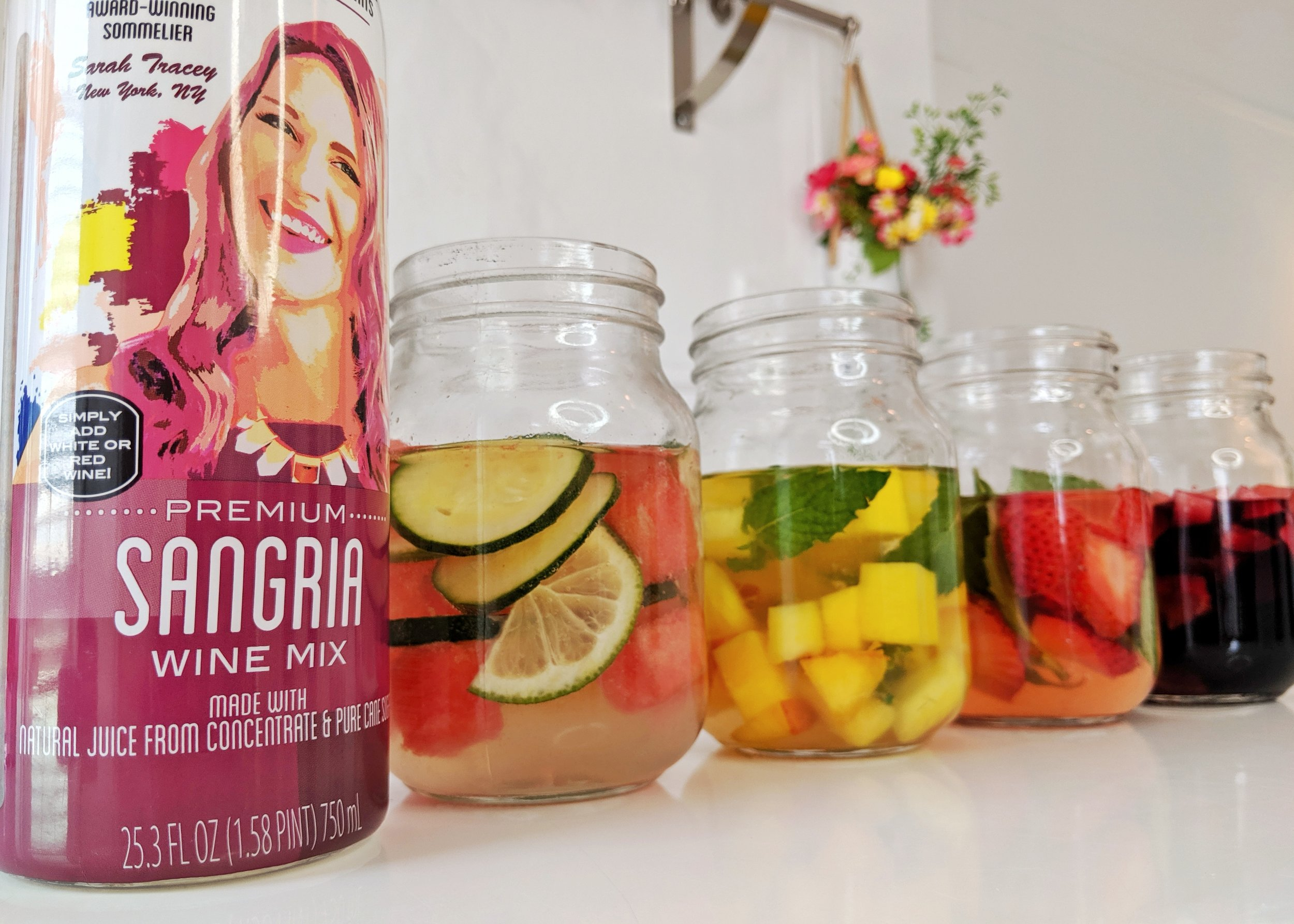 Sangria 4 ways in seconds with Cocktail Artist Premium Sangria Wine Mix